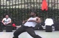 Street Dancer Shows Off His Impressive Moves