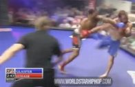 MMA Fighter Catches His Opponent With A Mean Running Punch Knockout!