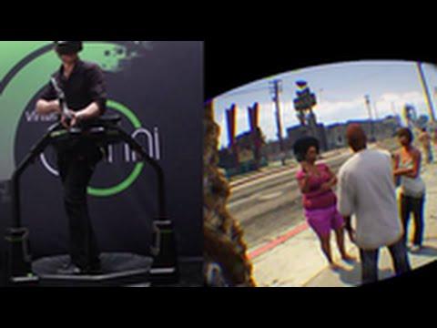 Dope: GTA V Played On A Virtual Reality Treadmill!