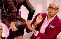 Amber Rose Lets RuPaul Squeeze Her Booty To Prove That It's Real!