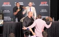 Daniel Cormier & Ryan Bader Nearly Fight At UFC 187 Post-Fight Press Conference!