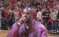 """Kanye West Performs """"All Day"""" During A Timeout In Chicago's Game 4 vs. Cleveland!"""