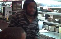 Wale and J. Cole freestyle waiting for food at Denny's