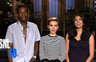Wiz Khalifa & Scarlett Johansson Compare Tattoos In SNL Promo