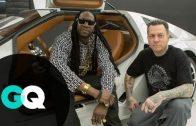 2 Chainz Visits A $500k DeLorean At West Coast Customs