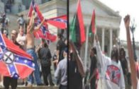 KKK And Black Activists Face Off At Confederate Flag Protest Outside South Carolina Statehouse!