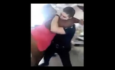 Cop Gets Body Slammed By Big Woman After He Tried To Arrest Her!