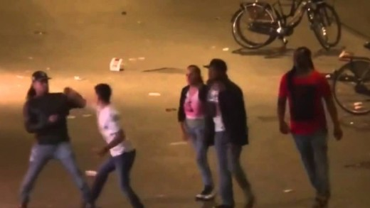 Drunk Guy Gets Knocked Out After Starting A Fight With 3 Dudes!