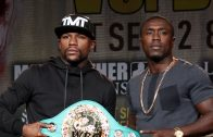 Floyd Mayweather Vs. Andre Berto Face-Off!