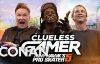 Lil Wayne Plays Tony Hawk's Pro Skater 5 With Conan O'Brien & Tony Hawk!