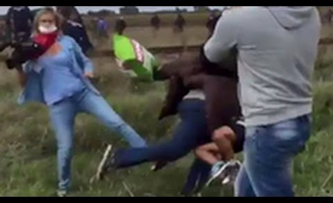 Messed Up: Hungarian Camerawoman Tripped Refugees Trying To Escape The Police!