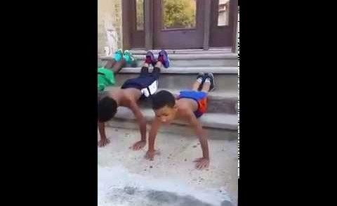 No Weakness: Jamaican Kids Are Serious About Their Workout!