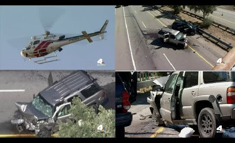 Police Shoot - Kill Wrong-Way Driver From Helicopter During High Speed Chase On California Highway!