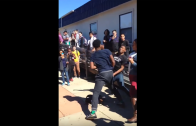 Dude Gets KO During Fight At Apex High School