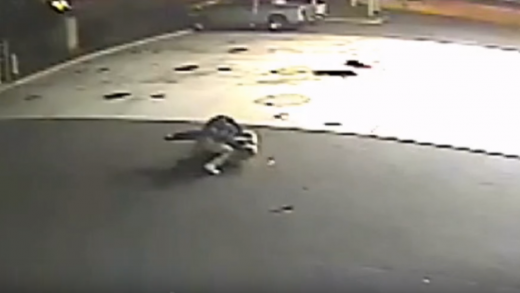 Wild-Video-Shows-Cop-Repeatedly-Stabbed-By-Homeless-Man-Trying-To-Explode-Gas-Station!