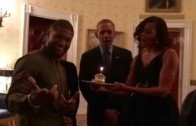 "Obama Sings ""Happy Birthday"" To Usher!"