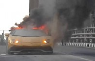 Show-off Fail: Man Ruins His $400K Lamborghini By Over Revving His Engine & It Catches On Fire!