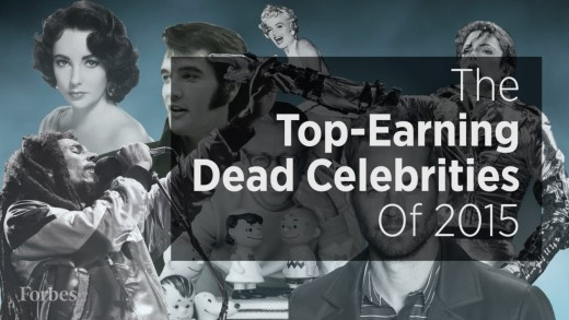 Top Earning Dead Celebrities 2015!