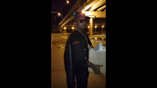 Rapper-Nino-Brown-Gives-Out-Glasses-Of-Champagne-To-The-Homeless!
