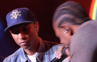 Pharrell Brings Out Kendrick Lamar At Cali Christmas Concert