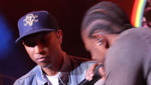 Pharrell-Brings-Out-Kendrick-Lamar-At-Cali-Christmas-Concert