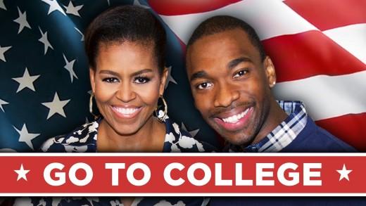 """Michelle Obama Drops Bars In Rap Video """"Go To College"""""""