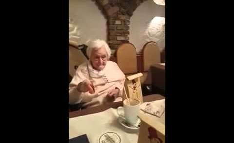 Awkward: German Grandma Has A Nazi Flashback!
