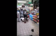 That Hit Though: Dude Gets Cracked With A 40oz During A Fight At A Gas Station!