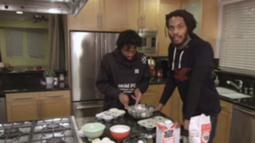 Watch Waka Flocka & Raury Make Vegan Blueberry Muffins