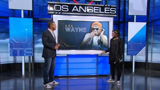 Lil Wayne Visits ESPN's SportsCenter