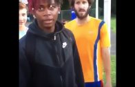 Dude Runs Up On Lil Dicky & Slaps His Drink Out Of His Hand!
